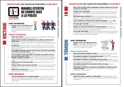 Flyer Manuel Citoyen de Survie face à la police